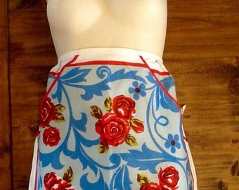 Painting the roses red vintage apron