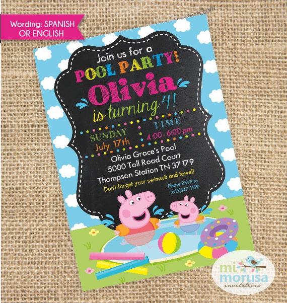 Peppa Pig George Pool Party Swimming Fun