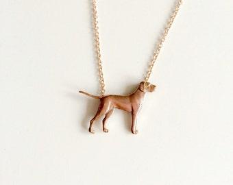 Dog Necklace, pointer dog. Dog lovers necklace.