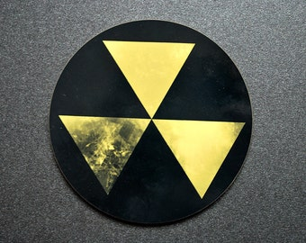 Fallout nuclear shelter danger sign distressed coaster for homes in apocalypse - end of the world halloween theme party decoration