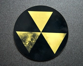 Fallout nuclear shelter danger sign coaster for homes in apocalypse