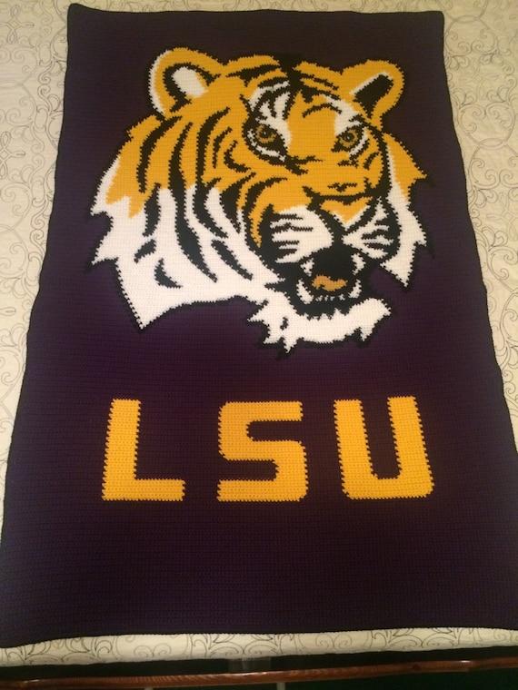 LSU Tigers Crochet Blanket