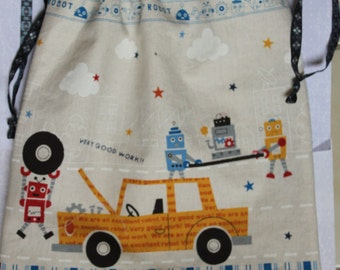 Robots drawstring bag