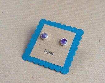 Lavender Amethyst studs, Amethyst Studs, Gemstone Studs, Silver Studs, Amethyst Earrings