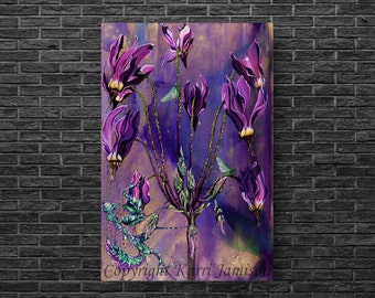 Karri Jamison Canvas PRINT, Title: Walk Of The Flower Mantis, GICLEE PRINT on Canvas 24x36 inches