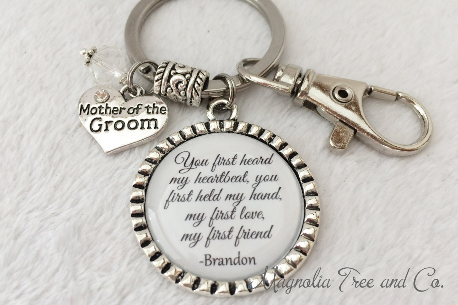 Mother Of The Groom Gift: Mother Of The GROOM Mother Of BRIDE Keychain Or Necklace