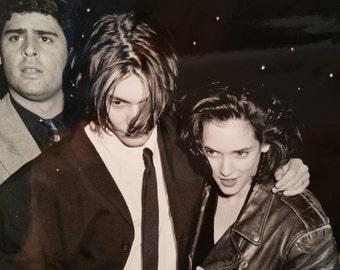 1990 Original Photo - Johnny Depp & Winona Ryder at Nato/Showest trade show