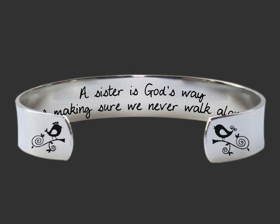 Sister Gifts | Sister Gift | Sister Present | Sisters Jewelry | A sister is God's way... Custom Personalized Bracelet Korena Loves