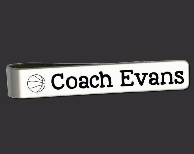 Custom Personalized Tie Bar | Coach Gifts | Gifts for Coach | Gift Ideas for Coaches | Best Coach Ever | Custom Tie Bar Korena Loves