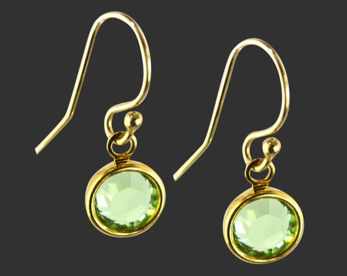 14K Gold Filled Swarovski Crystal Birthstone Earrings | Gifts for Friends | Gifts for Her | Teen Gifts | Daughter Gifts | Korena Loves