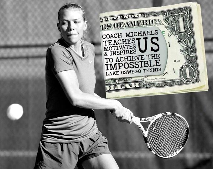 Tennis Coach | Tennis | Coach Gift | Gift for Coach | Coach Appreciation | Appreciation Gift | Custom Money Clip | Korena Loves