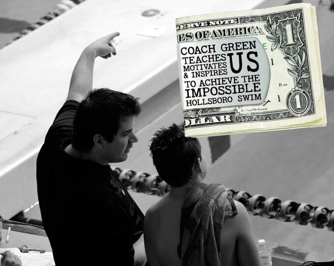 Swim Coach | Swim | Coach Gift | Gift for Coach | Coach Appreciation | Appreciation Gift | Custom Money Clip | Korena Loves