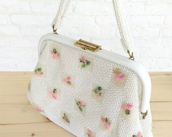 1950's Lumured beaded handbag