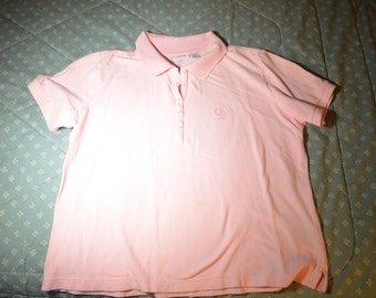 Pink Polo Top by Izod in Size Large