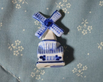 ON SALE  Little Blue and White Windmill Made in Holland