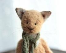 Made to order Teddy Bear Cats Gregory Soft Toys Stuffed Animal Artist Teddy Bears Artist Bear OOAK