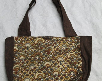 Brown and Gold tote