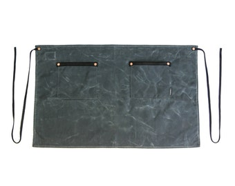 Industry Half Apron- Waxed Canvas - Charcoal