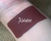 Aleister - Cream Liquid Matte Pastel Dark Deep Red Brown Lipstick - Sky Blue Pastel Lipstick Gothic Lips Goth