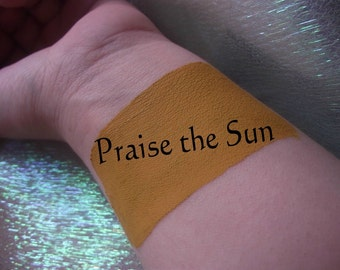 Praise the Sun - Cream Liquid Matte Mustard Yellow Lipstick - Dark Souls Inspired Lipstick Gothic Lips Goth