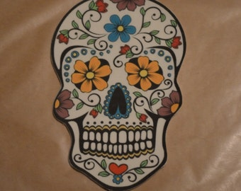 Day of the Dead Sugar Skull Fondant Cake Topper