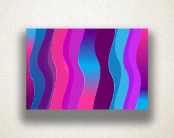 Vivid Wavy Lines Canvas Art Print, Gradient Wall Art, Vibrant Canvas Print, Artistic Wall Art, Canvas Art, Canvas Print, Home Art, Wall Art