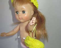 Yellow Hat and Purse for 8 inch Doll Ginny Betsy McCall Robert Tonner Crochet Set