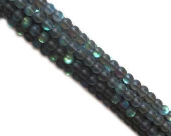 Black Matte Litmus Quartz, 10mm; 1 strand