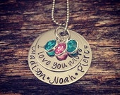 25% OFF I Love You More, Mother Necklace, Grandma Necklace, Mothers Day