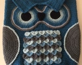 Crochet Baby Owl Cocoon And Hat