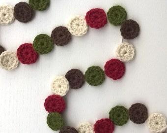Crochet Christmas Garland Circles / Christmas Gift / Christmas Decor