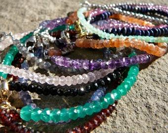 Stacking Bracelet,Layering Bracelet,Stacking Bracelets,Delicate Bracelet,Single Strand Bracelet,Gemstone Bracelet,Stackable GemstoneBracelet
