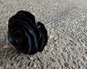 Metal Rose Hand Forged by Blacksmith. Iron Rose.