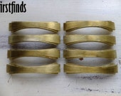 4 Art Deco Furniture Handles Original Brass Dresser Drawer Pulls Kitchen Hardware Mid Century Metal Cupboard 4 inch DETAILS BELOW