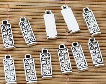 48pcs Tibetan silver rectangle design charms EF1871