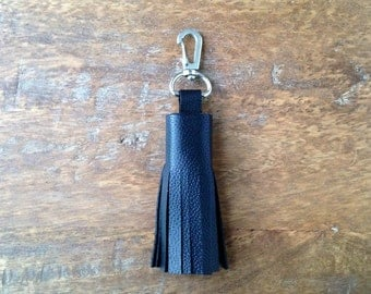 Genuine Leather Key Fob Black