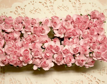 144 Pastel Pink Paper Roses