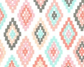 """Cornered in Blush - 11"""" remnant - Arrow Flight collection by Michael Miller fabric"""