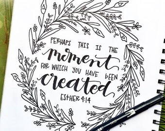 Ink Print - Esther 4:14