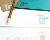 Pen Pal Letter Writing Set - Kids Pen Pal Kit - Fox Stationery