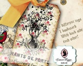 75% OFF SALE SHABBY French Romance Digital Collage Sheet Digital Tags and Bookmark Digital sheet Shabby Chic Instant Download