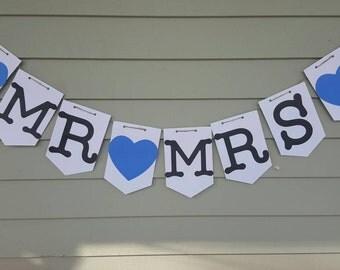 Mr&mrs cardstock banner
