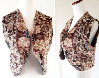 Vintage Soft Tapestry Aladdin Vest.  Medium