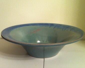 ViNTAGE ART POTTERY, Hand Made Flowing Blue Glaze, American Art Pottery, Console Vase, Centerpiece, Arts & Crafts