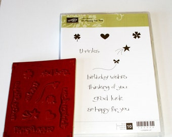 So Happy for You Rubber Stamp Set Retired from Stampin Up
