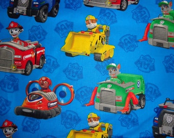 Blue Paw Patrol Cotton Fabric by the Yard