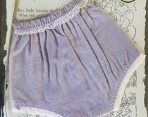 Lavender grey SD BJD panties