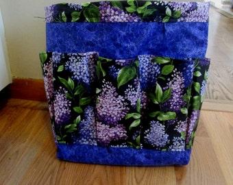 Bingo Bag, Purple Floral Bingo Caddy, Hair Accessory Caddy