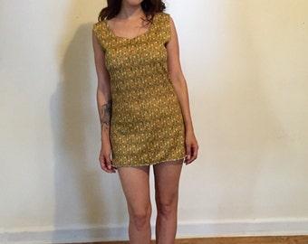 SALE | Mod Mini Dress | Vintage 1960s 1970s | Sz M