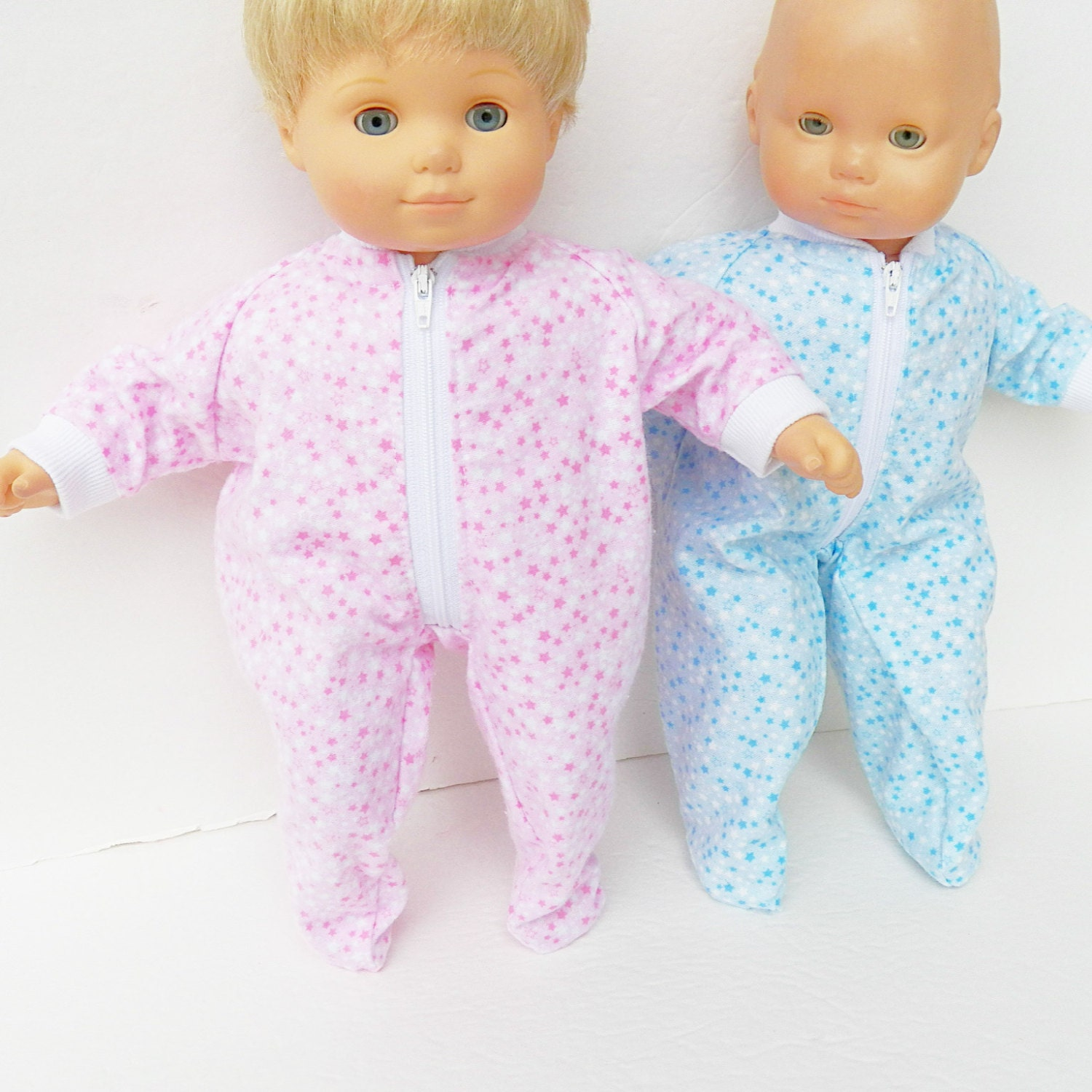 Bitty baby clothes boy and girl 15 twin doll pajamas